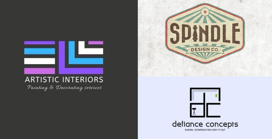 Unique Interior Design Logos