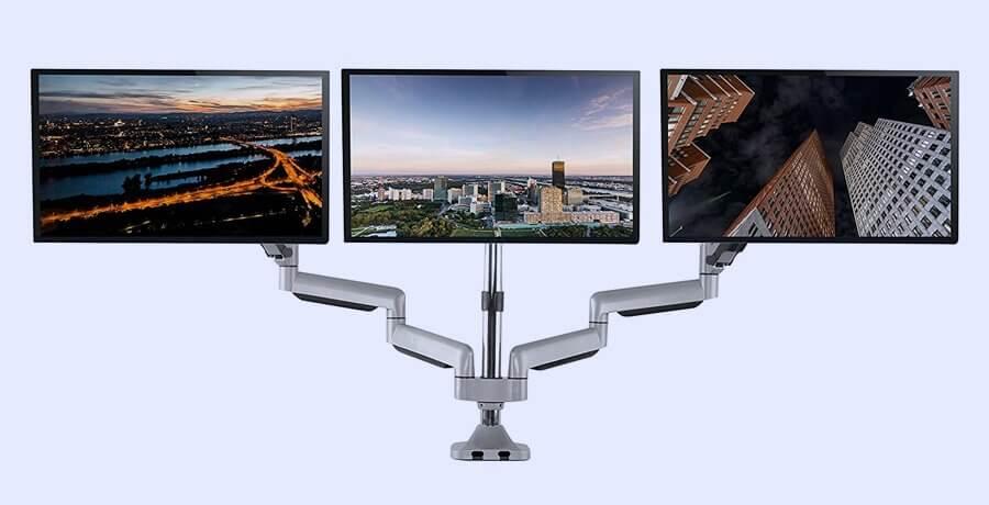 Monitor Arm For Designers - TechOrbits Silver Monitor