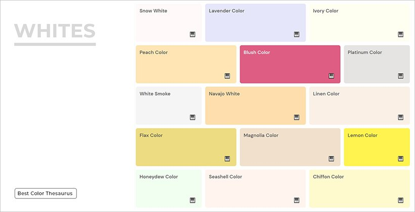 Color Shades - Shades of Whites