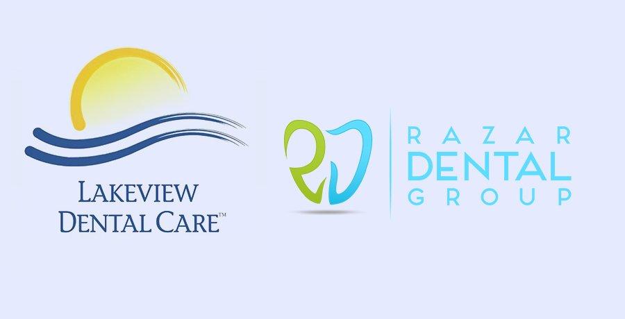 Lakeview Dental Care And razar Dental Group - Blue Logo