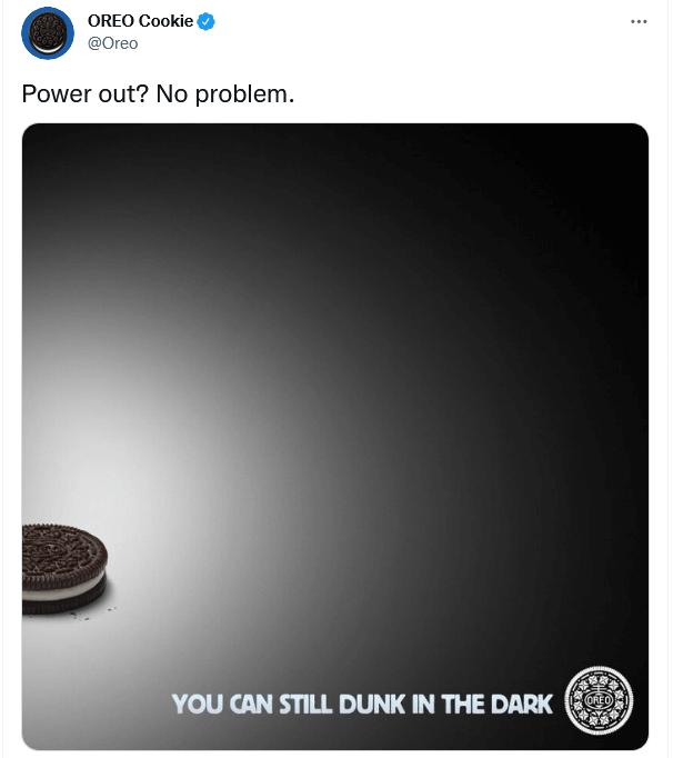 Oreo Cookie Tweet