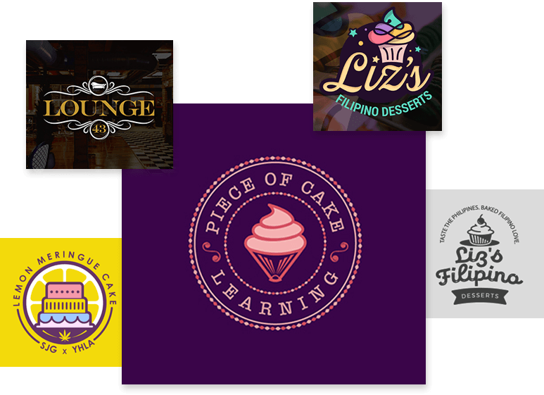 Cake, Sweet, Dessert and Bakery Logo